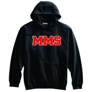 Maplewood Middle School PENNANT Hooded Sweatshirt - BLACK