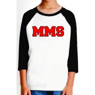 Maplewood Middle School RAGLAN 3/4 T-Shirt