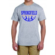 Springfield Basketball GILDAN T Shirt - GREY
