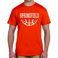 Springfield Basketball GILDAN T Shirt - ORANGE